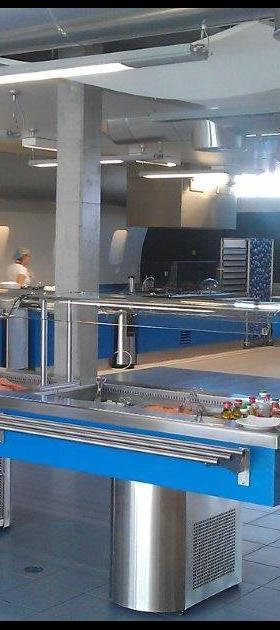 Linhas free-flow completas para refeitórios