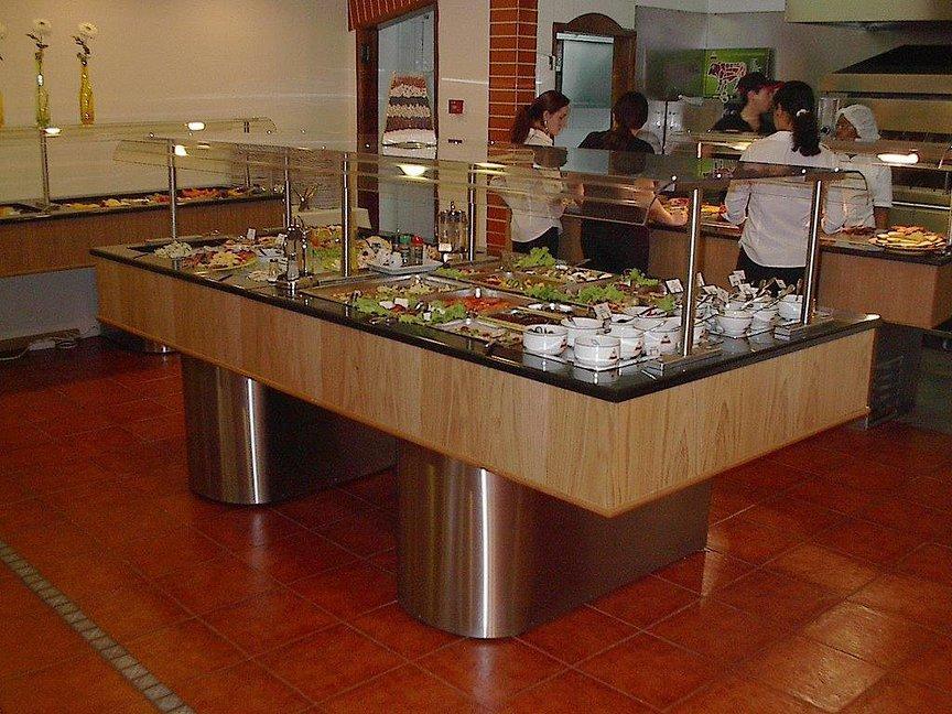 Buffet refrigerado para saladas